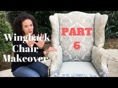 How to Reupholster a Wingback Chair! PART 6 - Sewing the Arm Covers. PART 6 of 9 - In Part 6 of this wingback chair makeover, we are finally sewing some fabric! This video will show you how the instructor and I (in an upholstery class) made a cover for Upholstery Nails, Upholstery Cushions, Upholstery Cleaner, Upholstered Chairs, Wingback Chairs, Upholstery Trim, Chair Cushions, Furniture Reupholstery, Reupholster Furniture