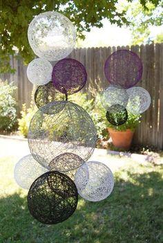 Quiero hacer algo así ...Wedding Decoration Hanging Spheres-Wedding Prop- Wedding Decor-Bohemian Chic Wedding Decoration. $65.00, via Etsy.