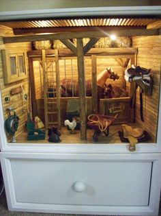 horse stable - i LOVE this! looks like they used a dresser.