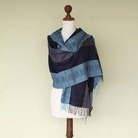 100% alpaca shawl, 'Huancayo Blues'