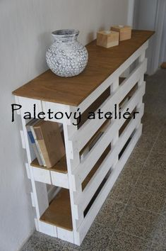 Komoda/police z palet Diy Furniture Redo, Repurposed Furniture, Home Decor, Home Decor Items, Home Decor Ideas, Wood Crafts, Handmade Home Decor, Pallet Furniture, Crates
