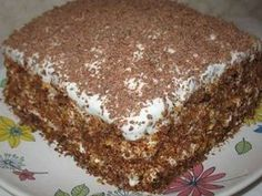 Well, very delicious cake! Ingredients: — 100 g butter — Bank of condensed milk — 2 eggs — 1 Cup of flour — tsp of baking soda — tsp cocoa Cream: — 300 g of sour cream — 150 g of sugar CAKE «DREAM OF LIFE Hungarian Cake, Hungarian Recipes, Russian Recipes, Russian Cakes, Russian Desserts, Romanian Desserts, Romanian Food, Baking Recipes, Cake Recipes