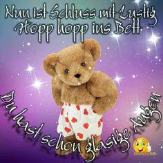 Gute Nacht (von) Good Night, Teddy Bear, Animals, Gb Bilder, Smileys, Espresso, Relax, Painting, Nighty Night