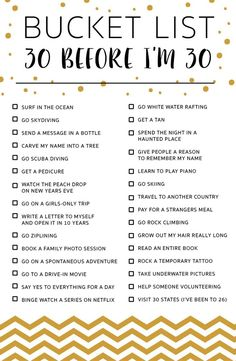Schön für uns alle, eine Eimerliste für uns selbst zu erstellen und auf dem B...