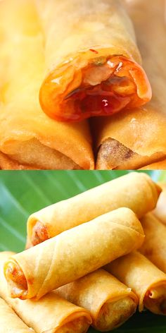 The crispiest and best spring rolls filled with vegetables and deep-fried to golden perfection. This spring roll recipe is easy, authentic and homemade. bread without yeast recipes Easy Spring Rolls, Homemade Spring Rolls, Fried Spring Rolls, Shrimp Spring Rolls, Vegetable Spring Rolls, Chinese Spring Rolls, Healthy Spring Rolls, Thai Spring Rolls, Vegetarian Spring Rolls