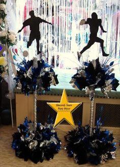 football soccer sports theme centerpiece mitzvah birthday triad winston salem party decor
