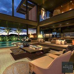 Home Room Design, Dream Home Design, Modern House Design, Home Interior Design, Modern House Facades, Exterior Design, Mansion Interior, Dream House Interior, Luxury Homes Dream Houses