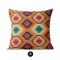 Bohemian style Geometric pillow for home decoration linen cushions