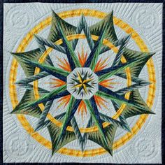 Mariner's Compass, Quiltworx.com, Made by CI Lisa McCarthy.
