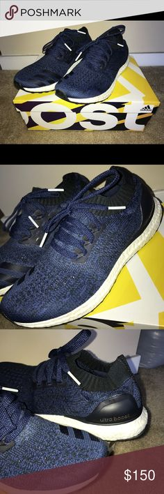 c68efd85b73d Adidas UltraBoost Uncaged Navy Blue Sneakers