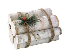 Decorating our unused fireplace - birch log bundle