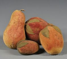 Four Fruit-form Velvet Pincushions   Sale Number 2558M, Lot Number 373   Skinner Auctioneers