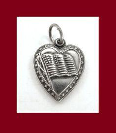 Royal Lion Silver Heart Necklace German Flag Waving