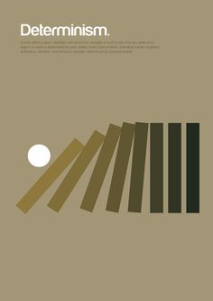 Determinism. London-based graphic designer Genis Carreras created a set of graphics called Philographics that attempt to condense brain-bending philosophies into a single, minimalist graphic.