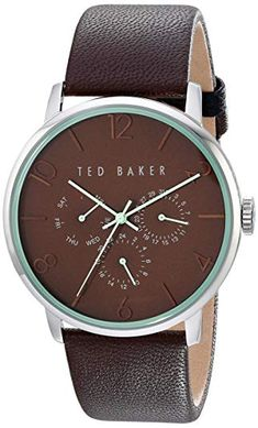 b0ddcd65a6 Ted Baker Mens Classic Collection Custom Multifunction Sub-Eye w  Contrast  Detail Date Leather