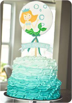 Little Girl Mermaid Cake