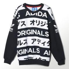adidas Allover Print Typo Sweatshirt |