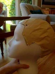 How To Make A Wig Head That Has Your Hairline and Head Shape with a foam wig head and less than 10 of materials Tried this it works pretty well Its not perfect esp if yo.