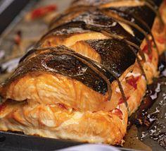 Рыбная бандероль (семга или лосось) с креветками