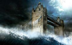 Arquitectura tiende un puente sobre el puente de Londres fondo de pantalla