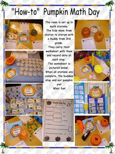 Pumpkin math day...