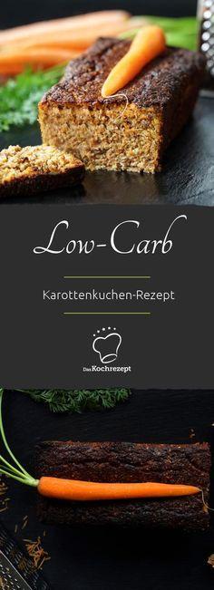 Low-Carb-Kuchen – saftig und sattmachend mit frisch geraspelten Karotten, Walnüßen und Xylit.