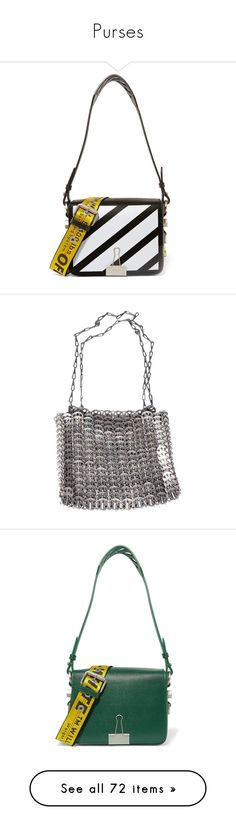 """""""Purses"""" by mollface ❤ liked on Polyvore featuring bags, handbags, shoulder bags, white, leather, net-a-porter, off, black, cell phone shoulder bag and leather handbags"""