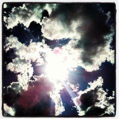 sun, clouds, beach