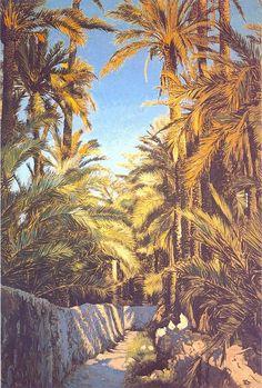 Elche camino entre huertos Painting