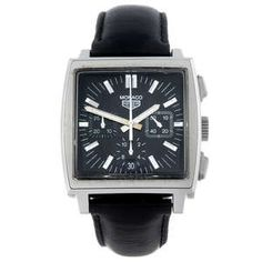 LOT:360 | TAG HEUER - a gentleman's stainless steel re-issue Monaco chronograph wrist watch.