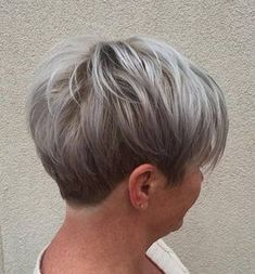 """50 Edgy, Shaggy, Messy, Spiky, Choppy Pixie Cuts [ """"Short Ash Blonde And Silver Hairstyle For Women Over Soft gray sheen."""", """"Finish your grey hair colour with a popular haircut such as short pixie haircut you are ready to go :) Here are Short Pixie Ha"""