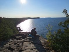 Views from the Bruce trail in Bruce Peninsula National Park. #tobermory #camping #hiking #trails #discover