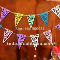 Cheap garland flower, Buy Quality garland directly from China paper vinyl Suppliers: LACE PAPER WEDDING BUNTING - BUTTERFLIES/FLOWERS - BANNER/GARLAND:Descriptions:1,Size: 14*23cm /