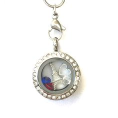 Mini Stainless Steel Silver Je Suis Charlie Paris Glass Floating Locket Necklace #P2DreamLockets