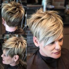 Pixie Haircuts with Bangs - 50 Terrific Tapers Pixie Hairstyles, Pretty Hairstyles, Pixie Haircuts, Short Hair Cuts For Women, Short Hair Styles, Pixie Styles, Sassy Hair, Haircuts With Bangs, Haircut And Color