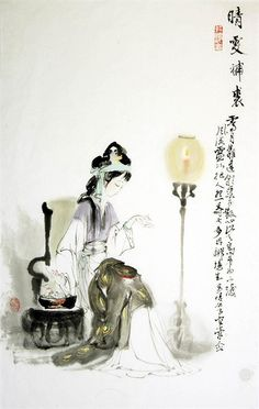 Beautiful Chinese Women from the book Hong Lou Meng (the Dream of Red Mansion) 11