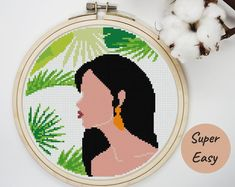 Cross Stitch For Kids, Modern Cross Stitch, Cross Stitch Patterns, Cactus Cross Stitch, Cross Stitch Tree, Etsy App, Tree Branches, Embroidery Stitches, Etsy Seller