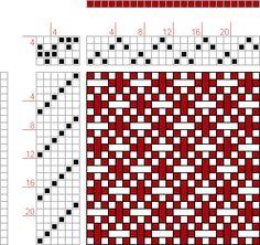 Hand Weaving Draft: 12072, 2500 Armature - Intreccio Per Tessuti Di Lana, Cotone, Rayon, Seta - Eugenio Poma, 4S, 6T - Handweaving.net Hand ...