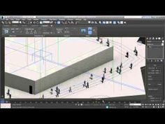 3ds Max - Populate Crowd Animation video