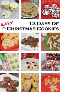 12 Days of Easy Christmas Cookies christmas baking day Christmas Desserts, Christmas Treats, Christmas Baking, Christmas Cookies, Christmas Foods, Christmas Dinners, Christmas Things, Holiday Baking, Christmas Holidays