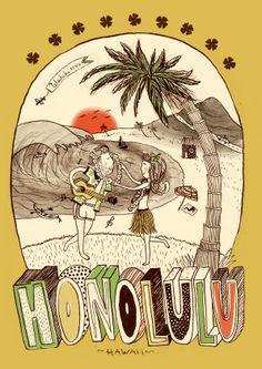 27 / Lucia Rovira / Ciudades / from: La vuelta al mes en 30 ilustradores