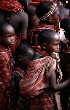 Samburu children, by Kenya Netta Bank