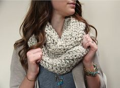 Crocheted Infinity Scarf by YvonneCrochets on Etsy, $20.00