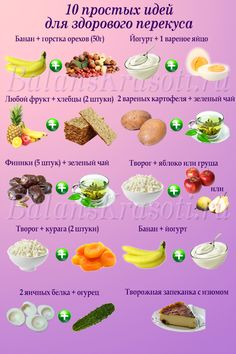 10 простых идей для здорового перекуса