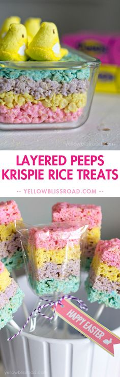 Layered Peeps Rice K