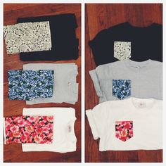 DIY printed pocket Tees.