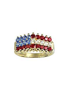 Crystal Flag Ring | Orchard Brands