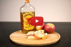 Fireball Whisky Infused Apple Slices with Caramel Drizzle Recipe