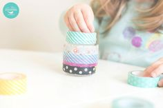 Saturday Morning DIY with Wee Three Sparrows Photography - Washi Tape Tea Light Holders - Toronto Photographer, Toronto Lifestyle Photographer, Toronto Natural Light Photographer #diy #washitape