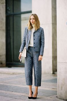blue pants | #fashion #streetstyle | http://lkl.st/1oR6Mpa | See more on https://www.lookli.st #Looklist